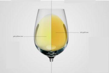 riconoscere colori vini bianchi